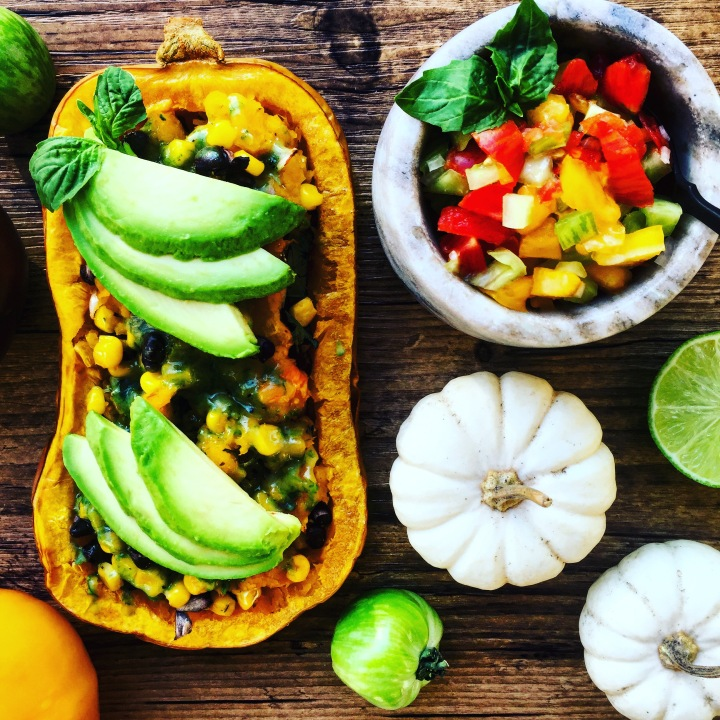 Meal Prep Sunday: Texmex Stuffed Squash and Heirloom Pico De Gallo